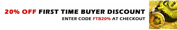 20% off first time buyer