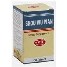 Shou Wu Pian Aka Fo-Ti Extract Pills, Patent Pill Formula: bottle 100 pills = 8 day supply